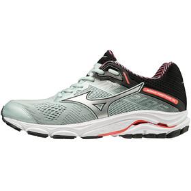 Mizuno Wave Inspire 15 Shoes Women Sky Gray/Silver/Fiery Coral